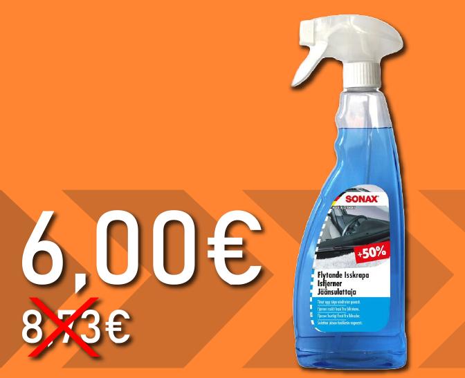 sonax jäänsulattaja 6 euroa